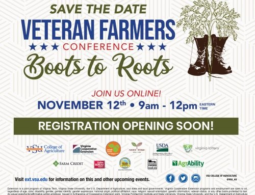 Save The Date: Veteran Farmer's Conference